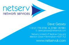 Netserv rebrand – logo design, business cards and stationery
