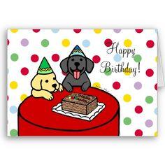 Labrador Birthday Card!!