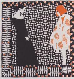 Early spring. Illustration to a poem by Rainer Maria Rilke. - Koloman Moser 1901