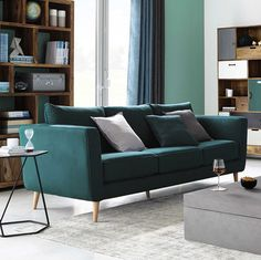 3/4 seater cotton sofa in beige Sweet home | Maisons du Monde ...