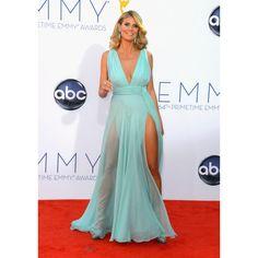 Heidi Klum Light Blue Sexy Custom Prom Dress 2012 Emmy Awards Red Carpet