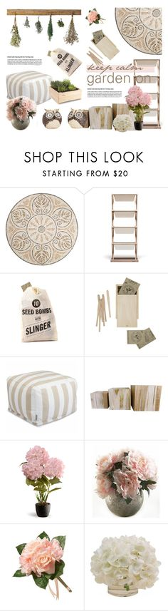 """Garden On"" by style-lena ❤ liked on Polyvore featuring interior, interiors, interior design, home, home decor, interior decorating, Pier 1 Imports, ACME Party Box Company, National Tree Company and Home Decorators Collection"