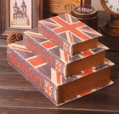 zakka Fake Book Shape Storage Box wooden box new design pot culture multifunction storage box WM2022