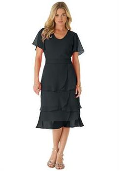 Plus Size Roaman's® Tiered Dress