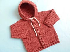 Baby Hooded Jacket/Cardigan | AllFreeCrochet.com
