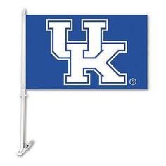 Car Flag W/Wall Brackett Kentucky Wildcats - 97210