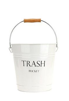 I think I'd be more excited to take out the trash if my bin looked something like this. I think it would be an easy DIY!