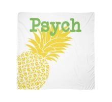 Minimalist Psych TV Show Pop Culture Lime Yellow Fun Green Pineapple Scarf