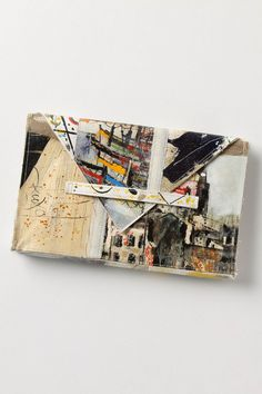 Brushstrokes Still Life Clutch, City Scene - Anthropologie I think my heart just stopped from the awesome.