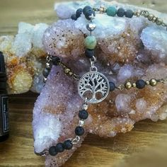 """My latest obsession - aromatherapy diffuser bracelets (and DŌTERRA, of course) 🕉️☮️💛✳️  Compatible with any brand of essential oil, but still looks awesome even if you aren't into those """"hippie oils"""" 😉  Genuine crystal/gemstone beads alongside the lava  Ideal for the entire family! Custom/specialized orders are always welcomed!   #aromatherapyjewelry #diffuserbracelets #essentialoilbracelet Aromatherapy Diffuser, Aromatherapy Jewelry, Crystals And Gemstones, Gemstone Beads, Bottle Charms, Crystal Jewelry, Lava, Essential Oils, Awesome"""