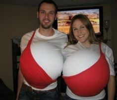 Couple costumes that make you wish Halloween never existed - Big Bra Costume