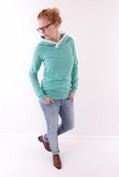 ♥ Hoodie Erika mit Spitze ♥ mintgrün ♥ von meinherzallerliebst auf DaWanda.com