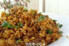 אורז עם בשר טחון בנוסח מזרחי -Rice with Meat Recipe כשאורז ובשר נפגשים. ניסיתי.קל ומוצלח והבעלול אוהב. נוסה. ד אהב
