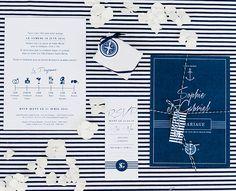 faire part mariage chic theme marin marine bord de mer rayures ancre bleu boussole Les Hamptons, Marines, Inspiration, Poster, Wedding, Deco, Cape Cod Collegiate, Sea Theme, Elegant Wedding
