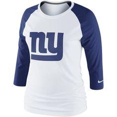 03035e892 Nike 3rd  n  Long Raglan NFL New York Giants Women s Shirt - White