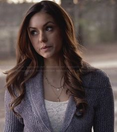 Elena's purple shawl collar cardigan on The Vampire Diaries.  Outfit Details: http://wornontv.net/31819/ #TheVampireDiaries