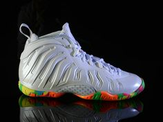fc0c2241f8706 Nike Lil Posite One Fruity Pebbles White Pink Foil Cascade Blue Poison  Green 644791 100 Foam