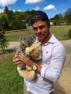Derek Hough and Derek Hough the Koala - You Will Die From the Cuteness! (Photo)