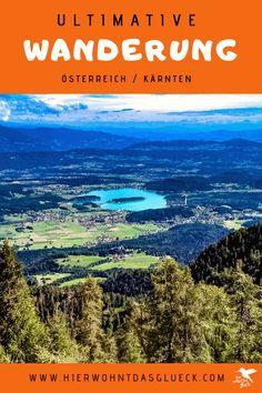 """Der Mallestiger Mittagskogel (slow. Maloško poldne) liegt in den Karawanken an der österreichisch-slowenischen Grenze. Wir haben die anspruchsvolle Tour mit leichtem Klettersteig für euch getestet! Außerdem verraten wir, was ein """"Zwölf-Uhr-Zeigeberg"""" ist. German, Happiness, Travel, Outdoor, Europe Travel Tips, Round Trip, Deutsch, Outdoors, German Language"""