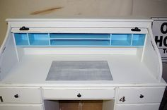 Step-by-step directions for painting roll-top desk