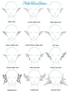 Ears Practice by NekoLoveLetter on DeviantArt Body Reference Drawing, Drawing Skills, Art Reference Poses, Drawing Techniques, Elf Drawings, Cool Art Drawings, Art Drawings Sketches, How To Draw Ears, Poses References