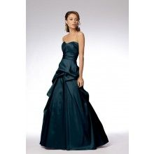 Luminescent Taffeta Teal Bridesmaid Dresses TET29 - $106.00