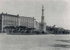 plaza de colón, nada que ver con lo extraño de la actual plaza, 1891, foto de hauser y menet (fuente: bne)