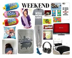"""""""The Weekends"""" by candyisthebest ❤ liked on Polyvore featuring Private Party, Casetify, IT'SUGAR, Skullcandy, Sony, Disney, noschool, Weekends and mygoals"""