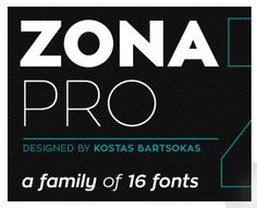 Zona Pro // all caps // thick // free font download // sans serif