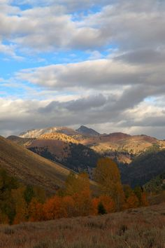 October in Sun Valley, Idaho in the foothills of the Sawtooth mountains