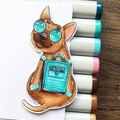 Coloring of the day!💙 - Stamp available at Charlies Stamps on Etsy (link in bio)💙 - Color Of The Day, Digital Stamps, Copic, My Images, Stamping, Coloring Pages, Link, Dogs, Handmade