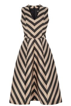 Stripe Fit and Flare - Longer Length