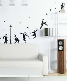 Take a look at this Black Starlight Dancing Wall Decal Set by Art Applique on #zulily today!