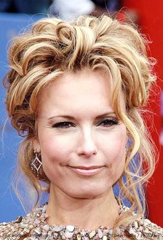 Tracey E. Bregman with Messy Sexy Curls in Half Up Loose Styling - Beautiful Hairstyles