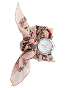Moschino Cheap And Chic Fashion Victim Pink Scarf Watch