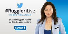 Marion Ruggieri répond en direct à vos questions sur Twitter le 13 avril @magazineellefr