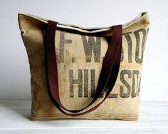 Grain sack tote bag