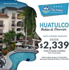 #DeberiaPoderVivirSin #Huatulco pero ya quiero regresar Rva Marina Resort 3 días 2 adultos OFERTA $2339 Llama y reserva 9981 93 3630 http://ift.tt/1m3yoTN
