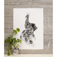 Peacock -print by Mini Empire