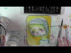 """Studio Time 1 - """"Spinning"""" - mixed media art journal full length tutorial - YouTube"""