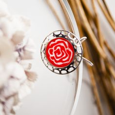 Rose. plastic and silver