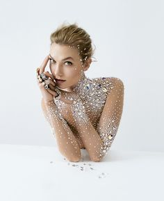 "Karlie Kloss shot by Tim Walker for Crystals from Swarovski campaign ""Brilliant…"