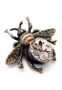 Steampunk Brosche - Mechanical Bee