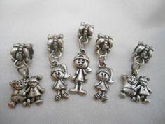 lote abalorios colgantes  para pulsera europea de jowel por DaWanda.com