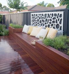 If you are working with the best backyard pool landscaping ideas there are lot of choices. You need to look into your budget for backyard landscaping ideas Backyard Seating, Small Backyard Landscaping, Backyard Patio, Landscaping Tips, Small Patio, Deck Benches, Courtyard Landscaping, Landscaping Contractors, Backyard Plants