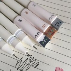 3 Kawaii Gel Pens Tip Kitty Cat Black Ink Fineliners, Kawaii stationery, Planner Journal Pens Korean Stationery, Japanese Stationery, Stationery Pens, Kawaii Stationery, Stationery Store, Stationary School, Cute Stationary, School Stationery, Fineliner Set