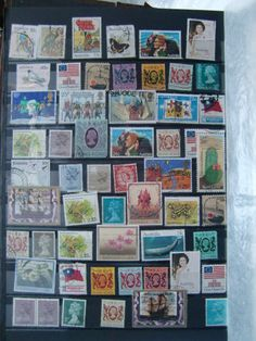 Vintage Postage Stamps - Old Stamps - Paper Stamps - Stamp - Worldwide Stamps #1 by EJVintageAvenue on Etsy