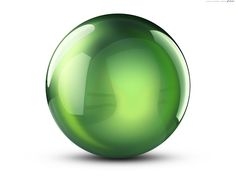 beautiful pictures of items in the color green | Colorful 3D crystal balls | PSDGraphics