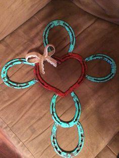 Horseshoe heart cross