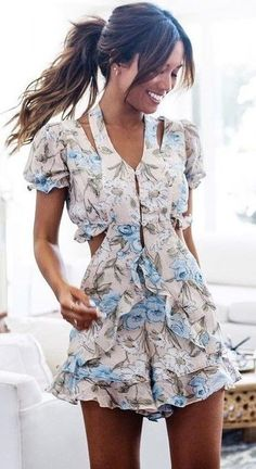 #summer #boho #chic #style | Floral Romper